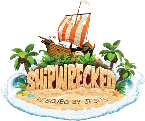"""SHIPWRECKED"" North River's VBS/SUMMER CAMP July 9 - 13, 9am til noon logo"
