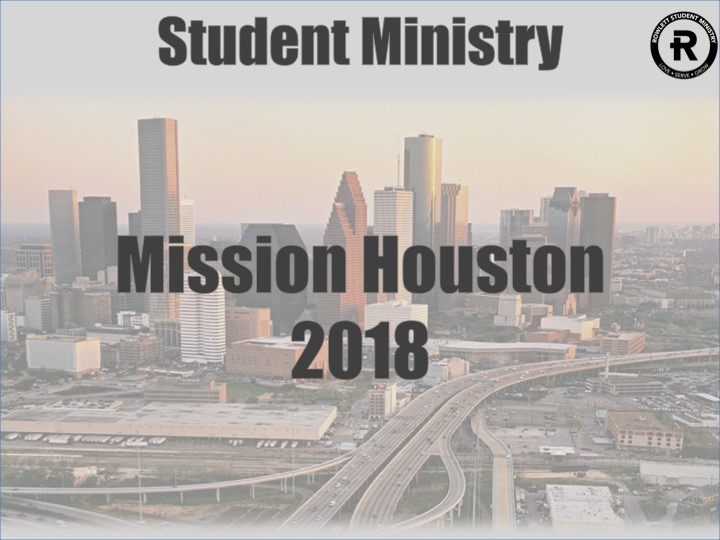 Student Ministry Houston Mission Trip logo