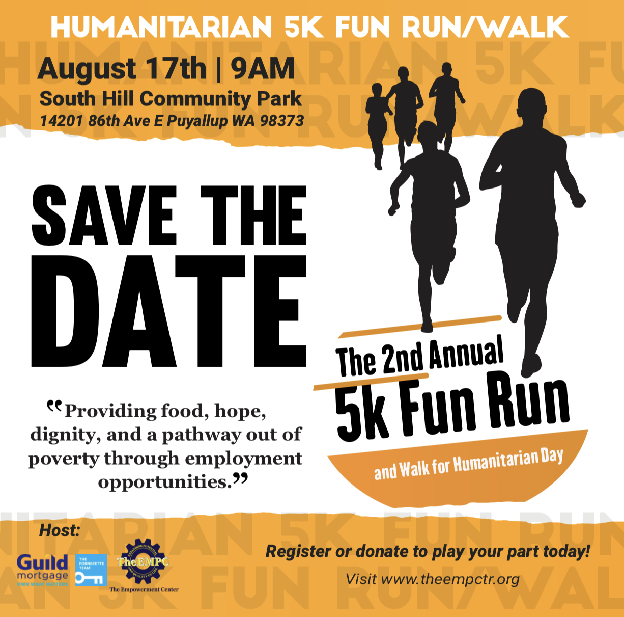 Humanitarian Day 5k Fun Run/Walk logo