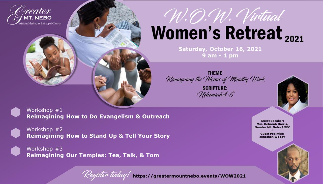W.O.W. Virtual Women's Retreat logo