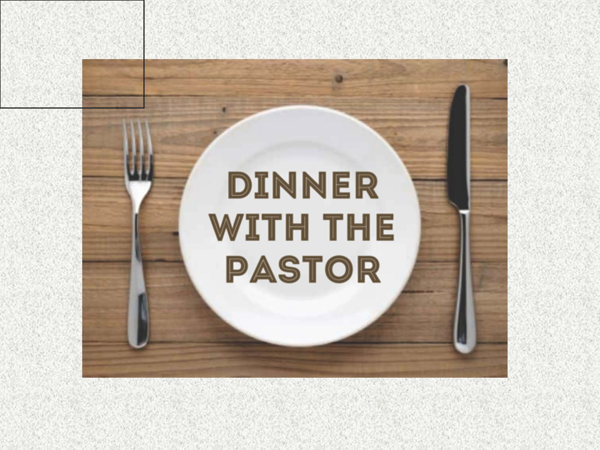 Dinner with the Pastor logo