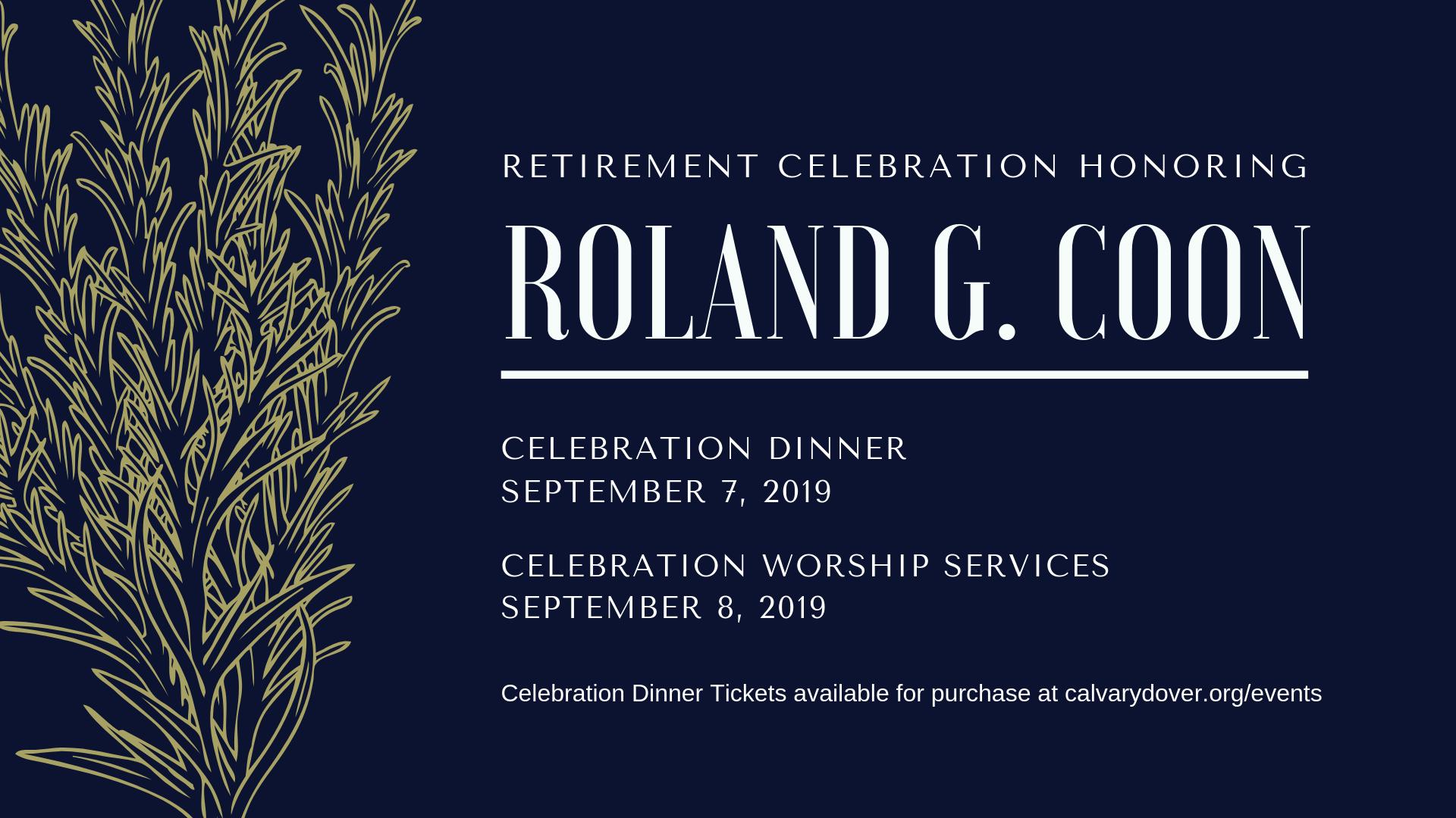 Retirement Dinner Celebration logo