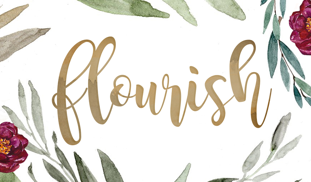 Flourish w/ Nicole C. Mullen logo