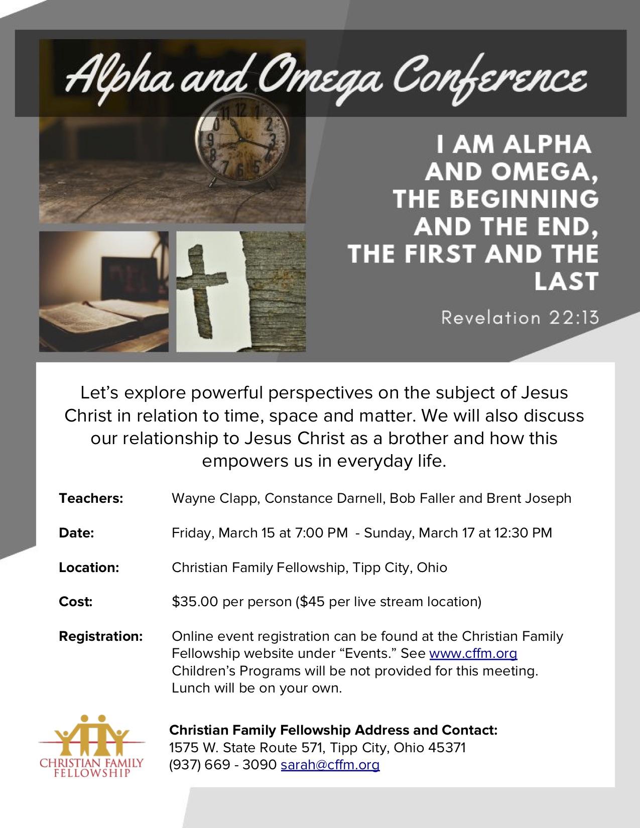 Alpha and Omega Conference logo