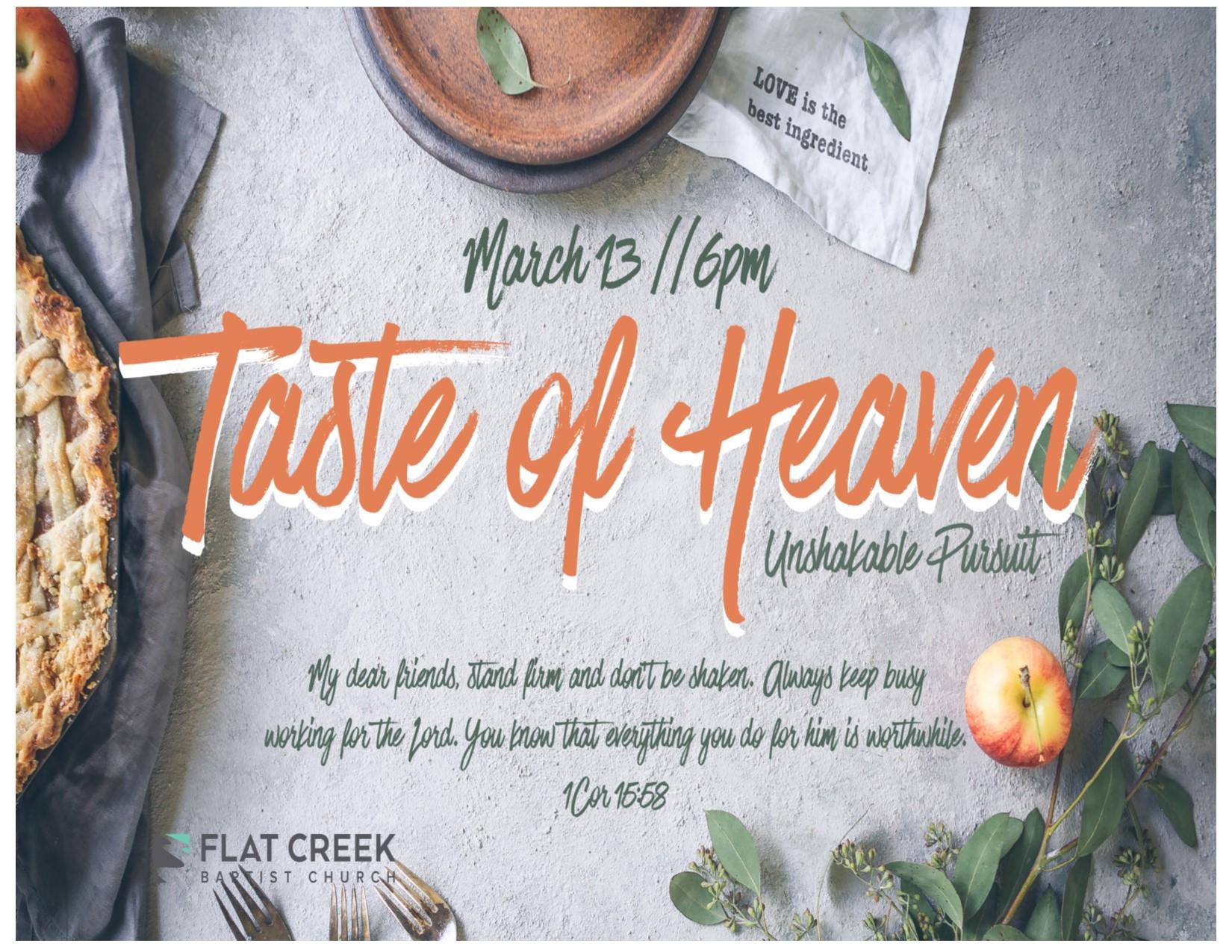 "Taste Of Heaven  ""Unshakable Pursuit"" logo"