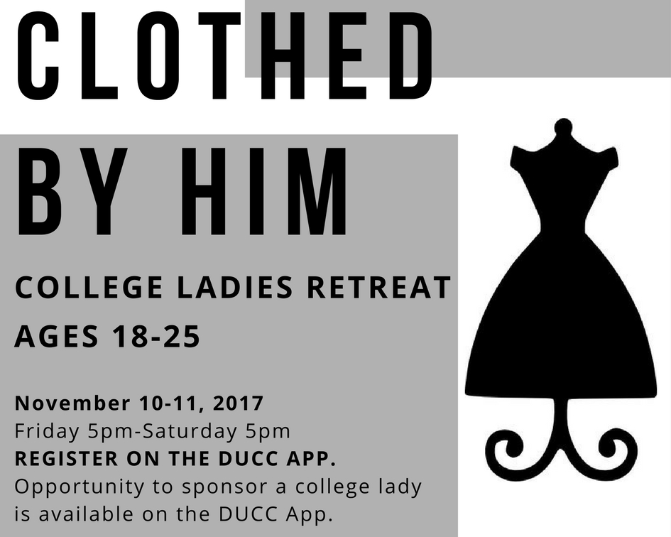 Clothed by Him: College Ladies Retreat logo