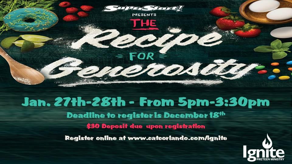 Recipe for Generosity logo