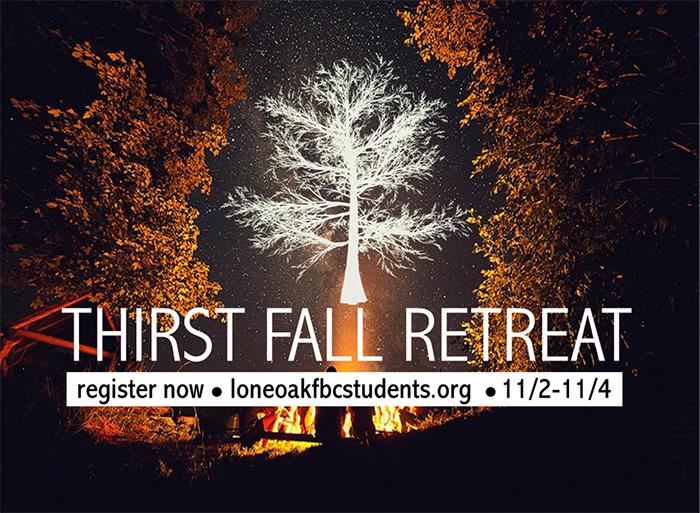 Thirst Fall Retreat (High School) logo