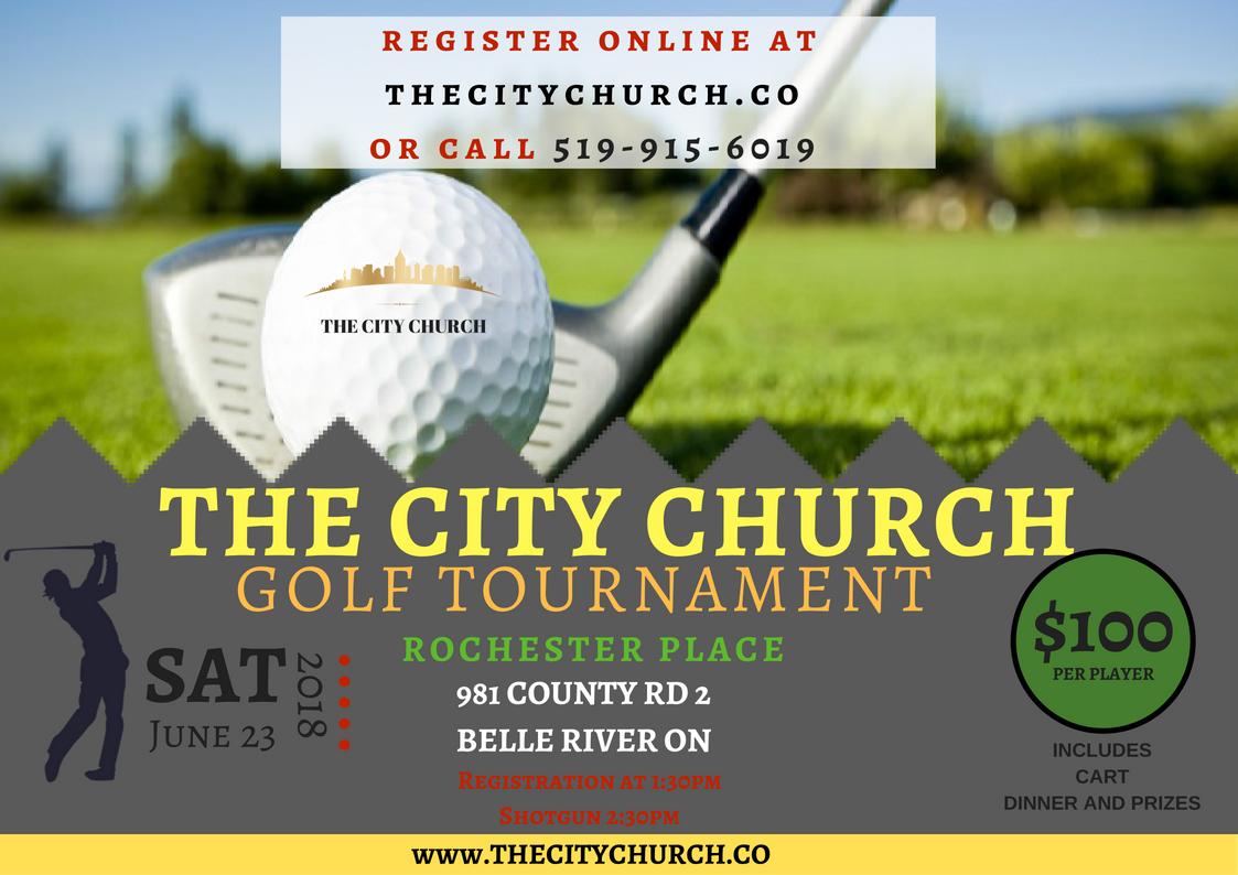 The City Church Golf Tournament logo