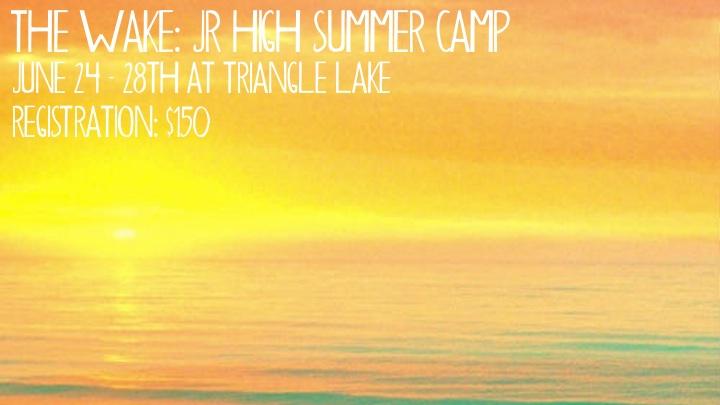 JR. HIGH SUMMER CAMP logo
