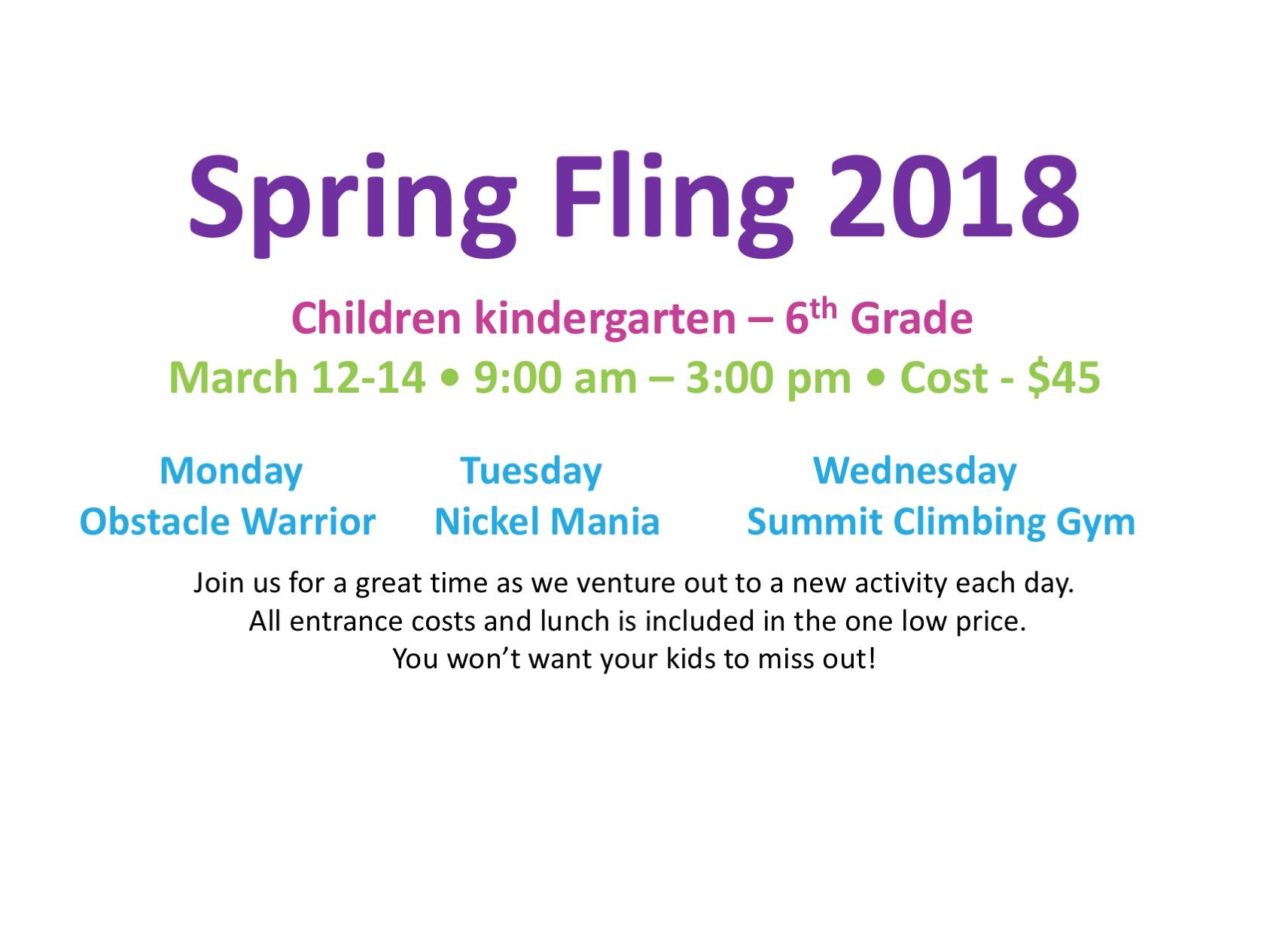 Spring Fling 18 logo