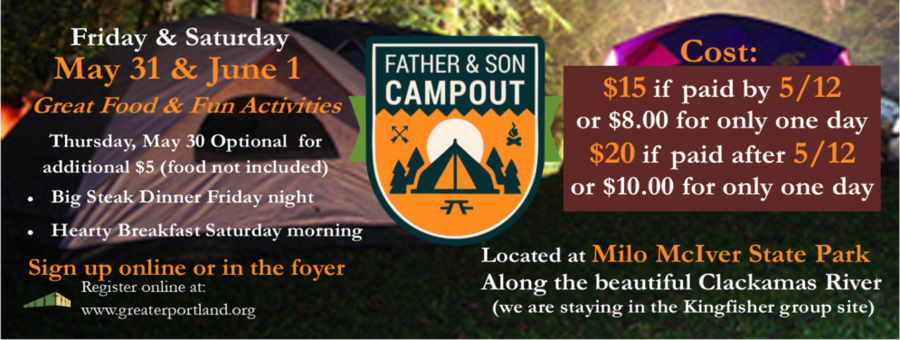 2019 Father & Son Campout logo