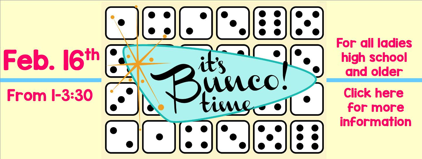 Ladies Fellowship Bunco Party logo
