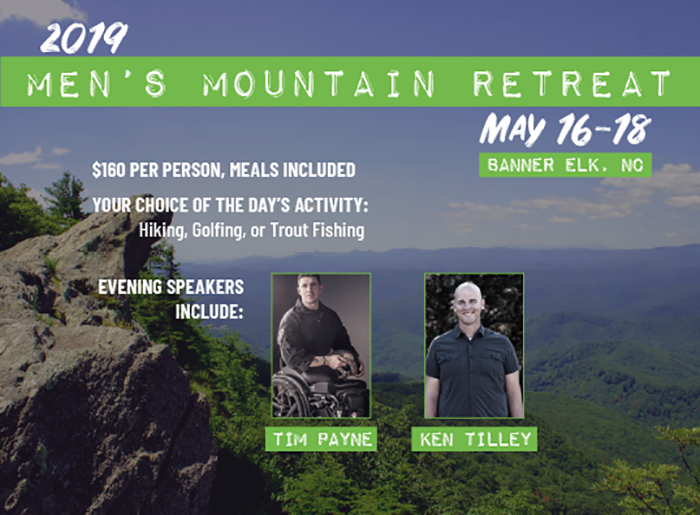 2019 Men's Mountain Retreat logo