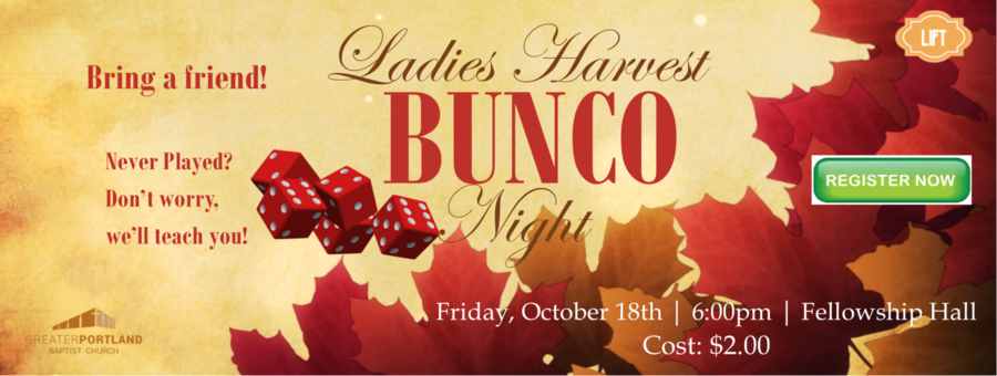 Ladies Bunco Night logo