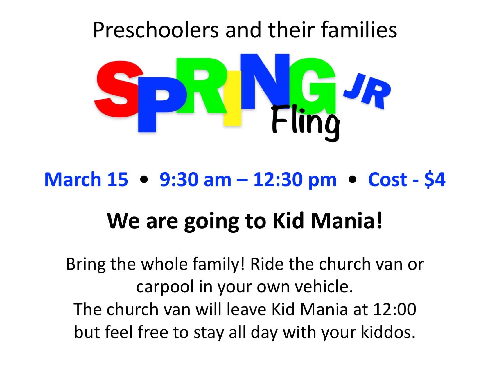 Spring Fling JR. logo