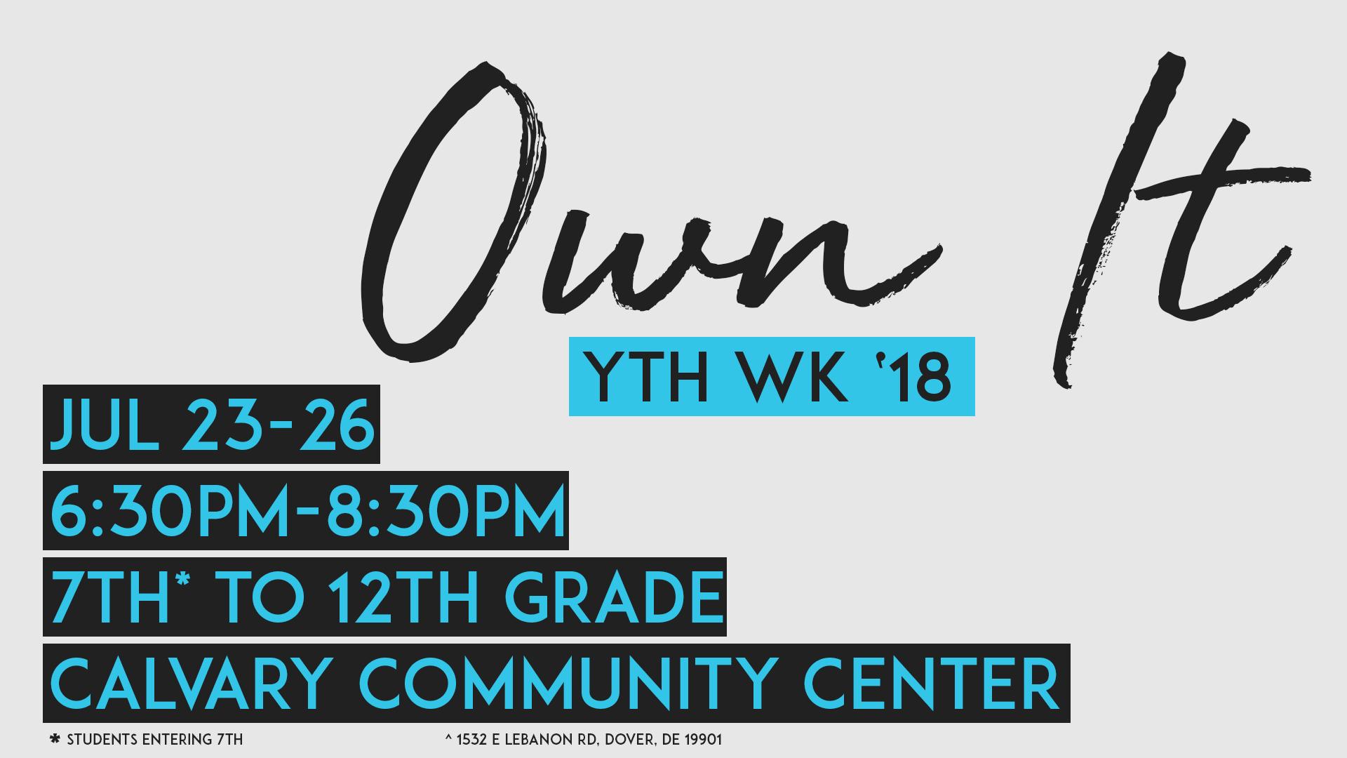 Own It - YTH WK '18 logo