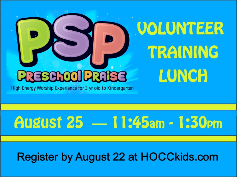 PSP Volunteer Training Lunch logo