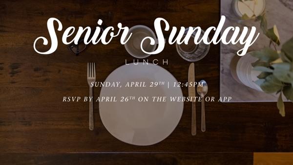 Senior Sunday Lunch 2018 logo