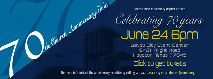 SUMBC's 70th Anniversary Gala logo