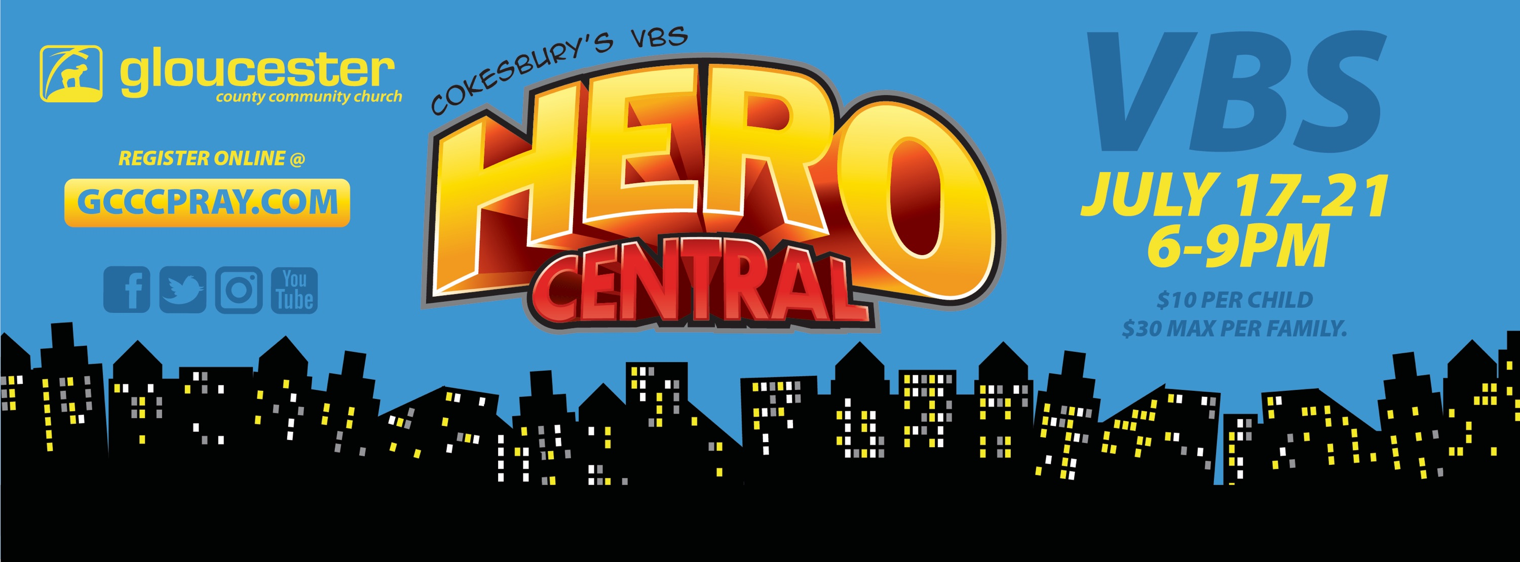 2017 Hero Central VBS @ Gloucester County Community Church logo