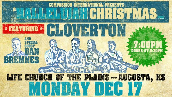 CLOVERTON: Hallelujah Christmas Tour logo