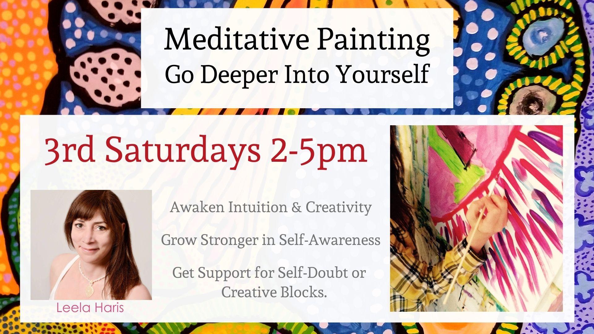 Meditative Painting-Go Deeper Into Yourself with Leela Haris logo