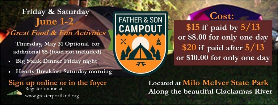2018 Father & Son Campout logo