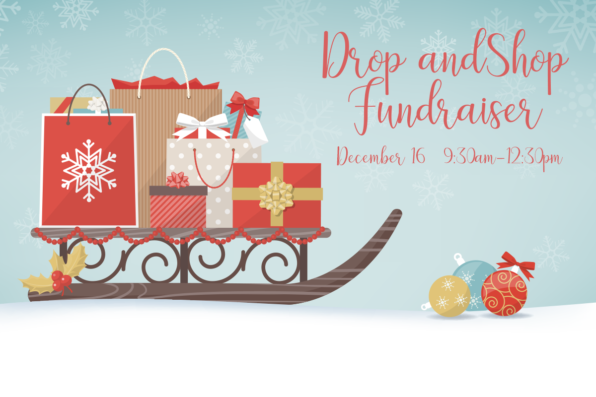 Drop and Shop Fundraiser logo