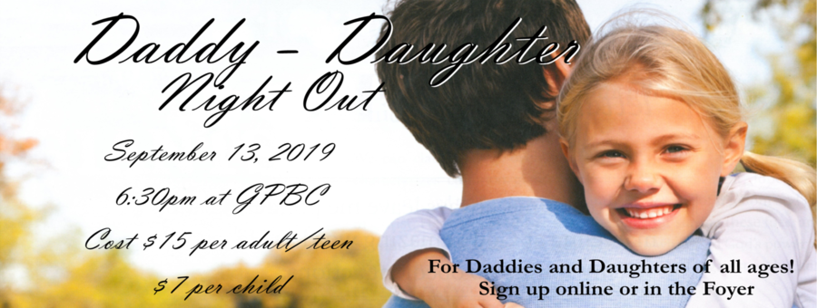 Daddy / Daughter Night Out - 2019 logo