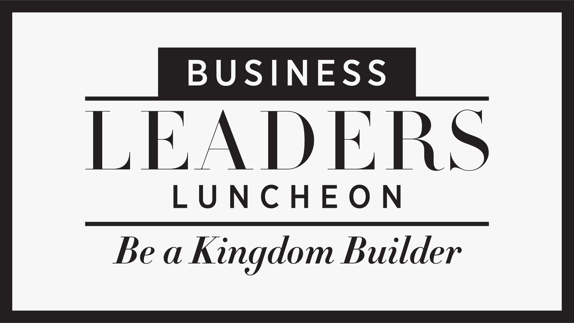 Business Leaders Luncheon - April 2017 logo
