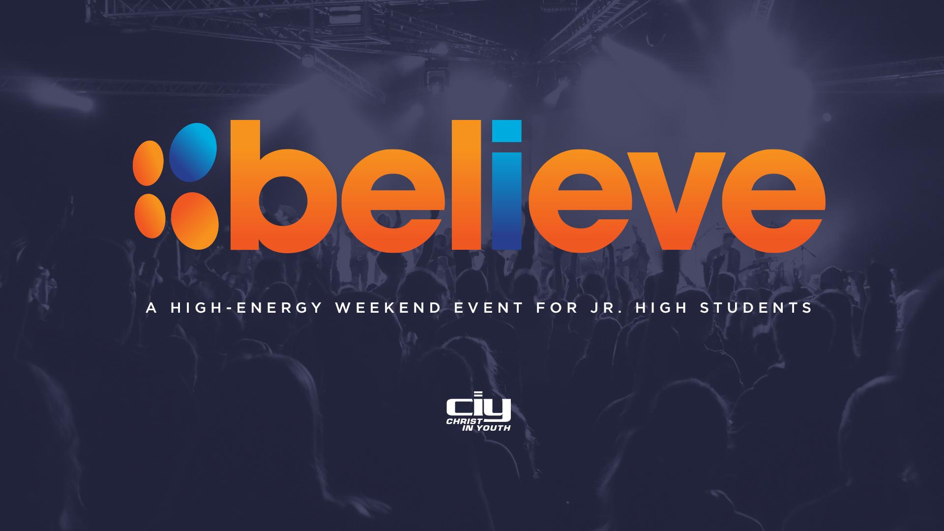 CIY - Believe 2018 // Middle School logo