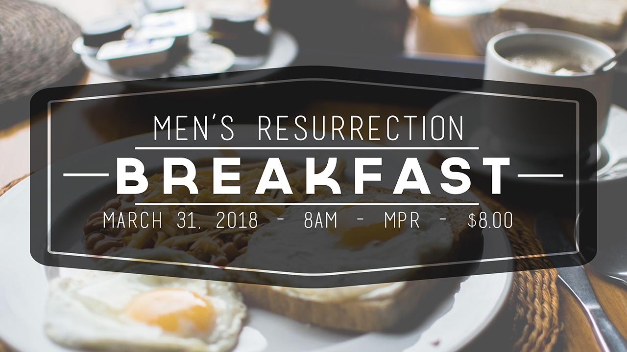 Men's Resurrection Breakfast 2019 logo