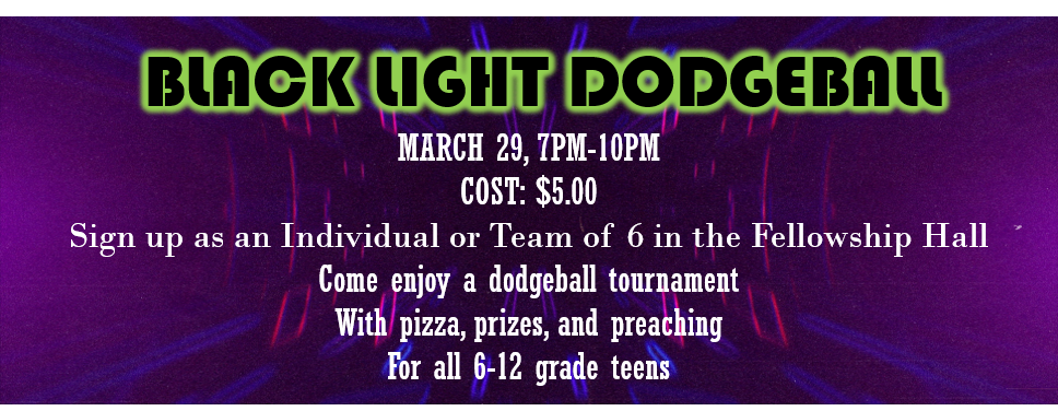 Blacklight Dodgeball - Ignite Teens logo