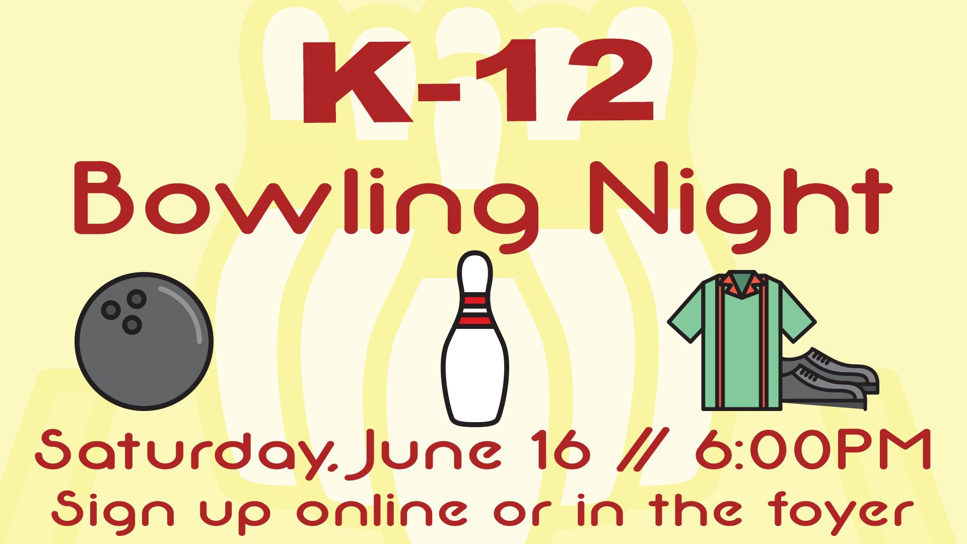 K-12 Bowling logo