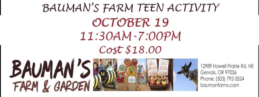 Teen Bauman's Harvest Festival logo