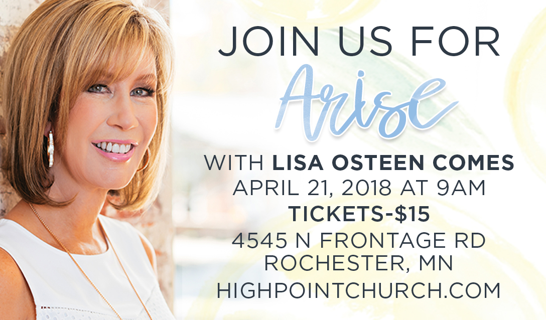 Arise w/ Lisa Osteen-Comes logo