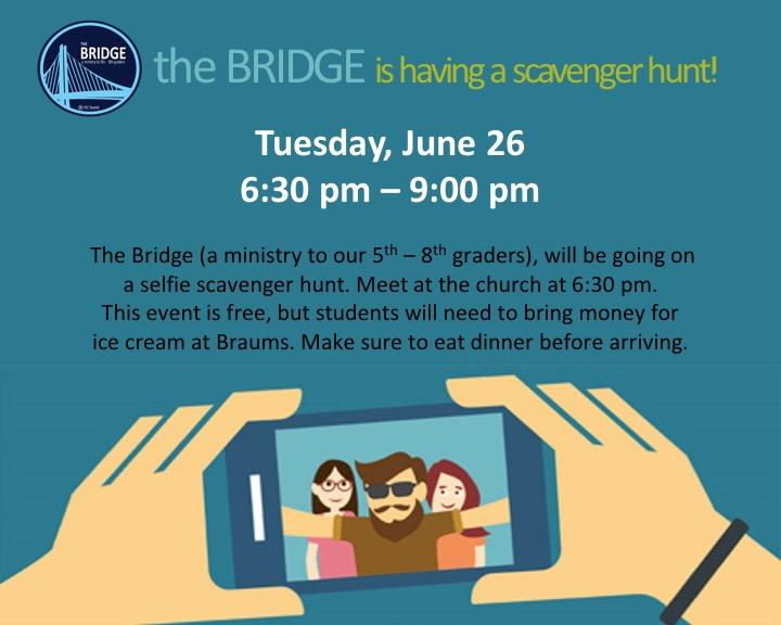 The Bridge - Selfie Scavenger Hunt logo