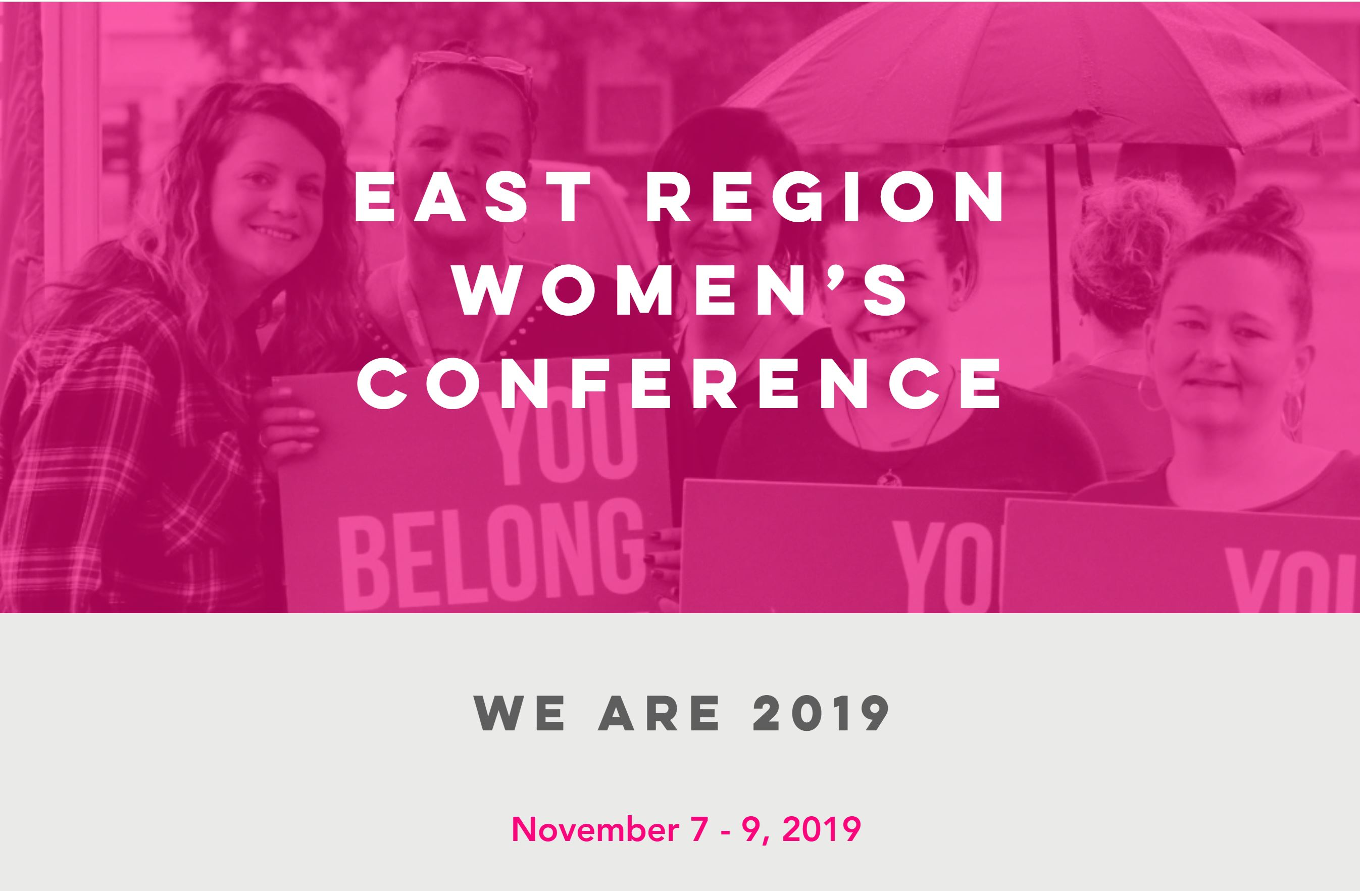 We Are Women's Conference 2019 - East Region logo