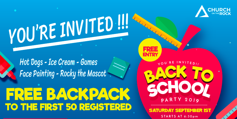 Back to School Party 2019 logo