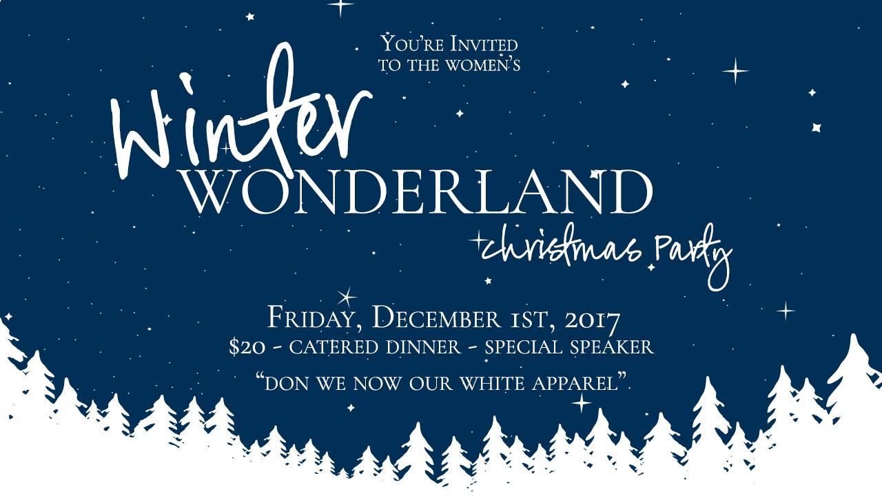 Winter Wonderland Ladies Christmas Party logo