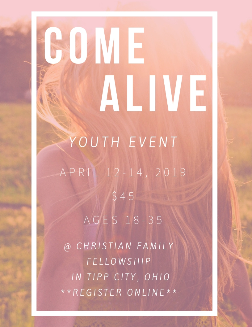 Come Alive - Youth Event logo