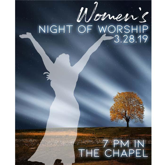 Women's Night of Worship Childcare Registration logo