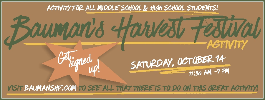 Bauman's Harvest Festival - Teen Activity logo
