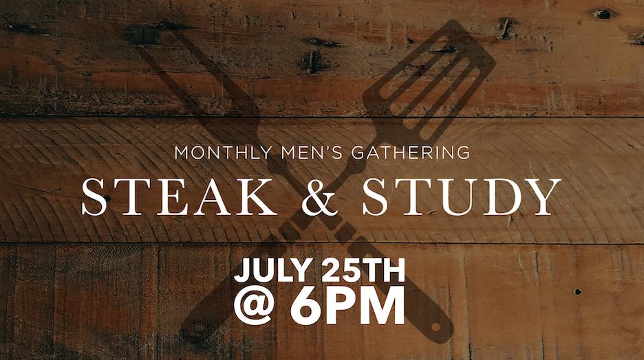 Men's Steak & Study July 25th logo
