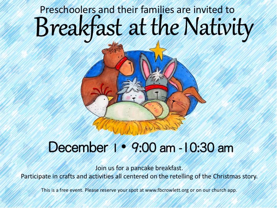 Breakfast at the Nativity 2018 logo