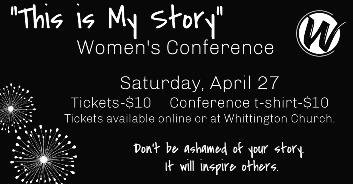 """""""This is my story"""" Women's Conference logo"""