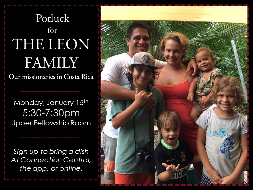 Welcome Home Potluck for Leon's logo