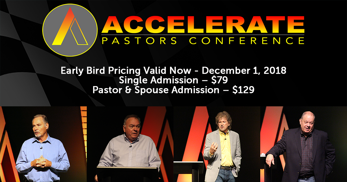 2019 Accelerate Pastors Conference logo