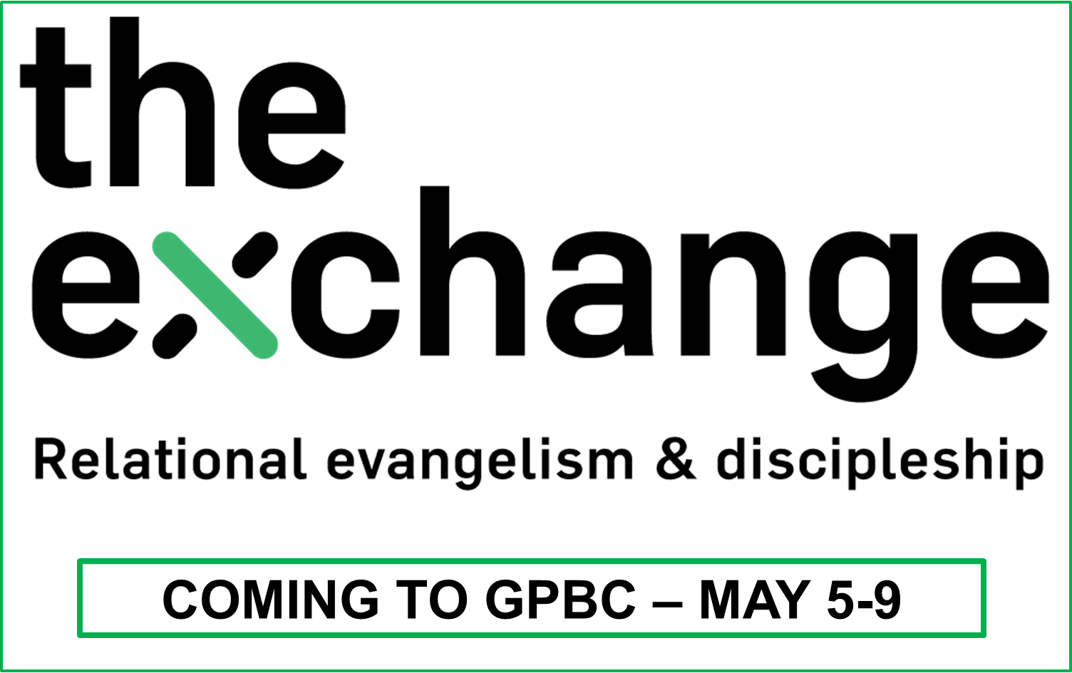 The Exchange - Relational Evangelism & Discipleship Seminar logo